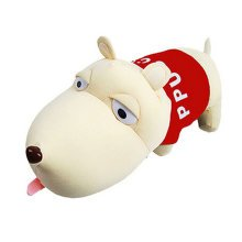 Plush Toy Doll Long Mouth Pup Absorb HCHO Odor Bamboo Bag?red