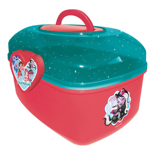 ENCHANTIMALS My Fancy Activity Case with 60pcs Creative Accessories, Green/Red
