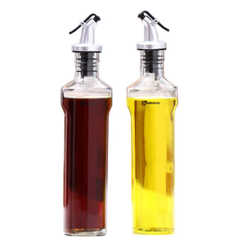 2PCS Household Glass Bottle Oil Container Oil Jar Vinegar Bottle, NO.14