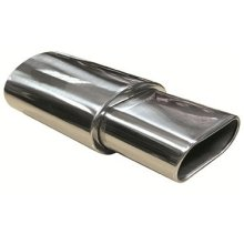 Oval Tip Exhaust Muffler Universal Fit Back Box