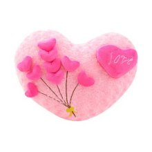 Romantic Valentine's Day Gift For Lovers, Cute Heart-shaped Rosewood Love Pillow