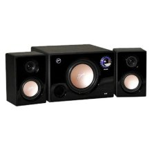 Swans - M10B - Powered 2.1 Computer Speakers - Surround Sound - Near-Field Speakers - Black - Bookshelf Speakers