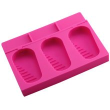 Soft Silicone Ice Cube Tray Ice Chocolate Jelly Tray Mold Party Maker, Rose Red