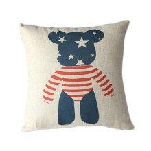 Cotton Linen Throw Cushion Cover And Inner Pillowcase 45*45cm Star