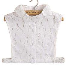 Simple Stylish Detachable Collar Fake Shirt Collar All-purpose Accessory for Women, H