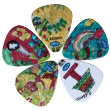 5 PCS Fingers Music Play Guitar Picks Acoustic Guitar Thickness 0.46 MM, A3
