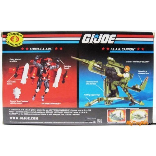 G.I. JOE Vehicle CLAW Glider with Stratoviper and Flak Cannon with Outback