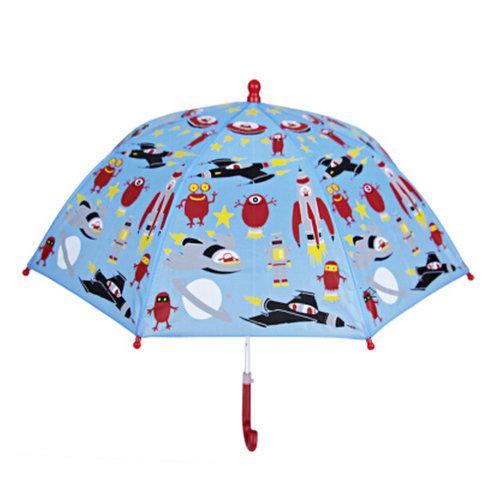 Kids Umbrella - Childrens 22 Inch Rainy Day Umbrella - Space Age