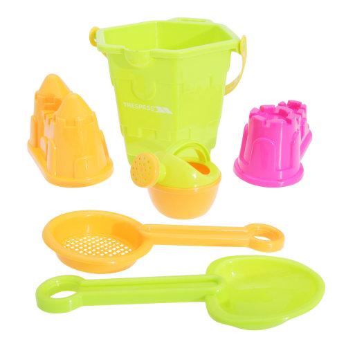 Trespass Digga Childrens/Kids Plastic Beach Bucket & Spade Set