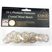 Karoo Equine Crystal Plaiting Bands x16 pack