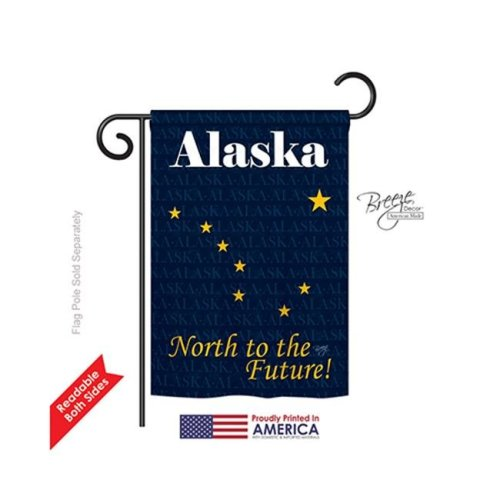 Breeze Decor 58135 States Alaska 2-Sided Impression Garden Flag - 13 x 18.5 in.