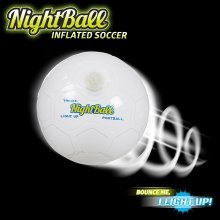 Nightball Football ~ White ~ Light Up Football