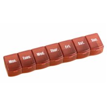 Portable 7 Grids For A Week Pill Organizer Convenient Pill Case-Chocolate