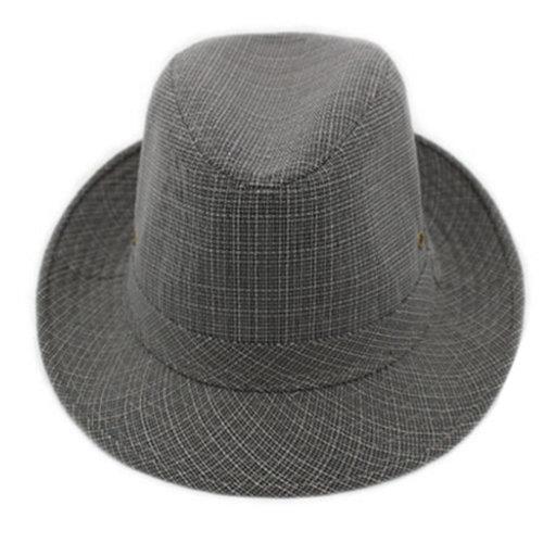 Outdoor Breathable Fedora Hat Sun Hat Straw Hat Hats Caps Unisex, Dark Grey