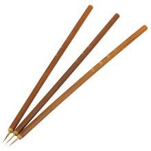 Bamboo Handle Weasel Hair Nail Art Painting Drawing Pen Brush Nails Tool