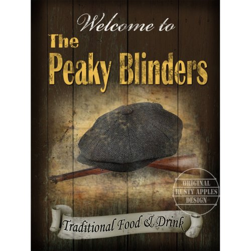 THE PEAKY BLINDERS TRADITIONAL BRITISH PUB SIGN MAN SHED HOME BAR METAL SIGN