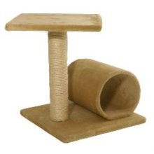 44cm 2 Tier And Tunnel Sisal Cat Scratcher - James And Steel Two Tier And Tunnel Sisal Scratcher 44cm Sharpen Claws Cat Toy