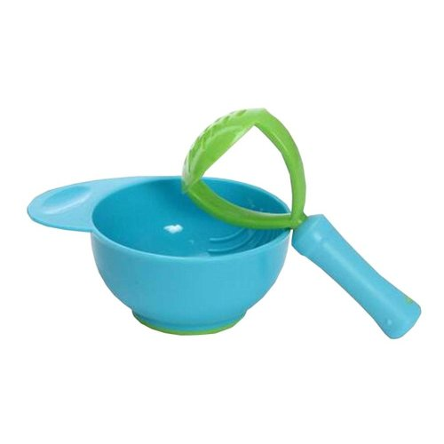 Cute Blue Bread/Vegetables/Fruits Baby Grinding Supply Kids Eating Bowl