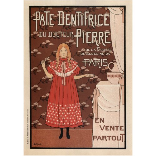 Advertising poster - Pâte Dentifrice du Docteur Pierre - High definition printing on stainless steel plate