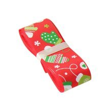 Christmas Tree Decor Red Gift Wrapping Streamers [Gloves] Party Supply