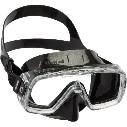 Cressi 1946 Sirena Black Scuba Diving and Snorkeling Mask - Black