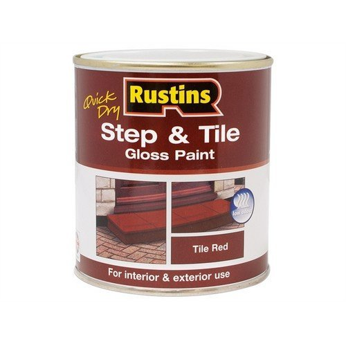 Rustins STRDW1000 Quick Dry Step & Tile Paint Gloss Red 1 Litre