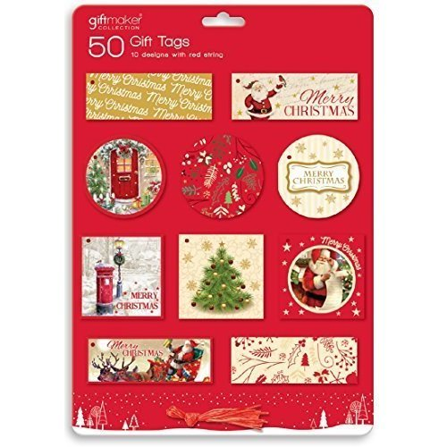50 x traditional christmas gift tags santa festive noel tie on 50 x traditional christmas gift tags santa festive noel tie on labels xmas 50 traditional christmas xmas gift tags round square rectangle thread negle Images
