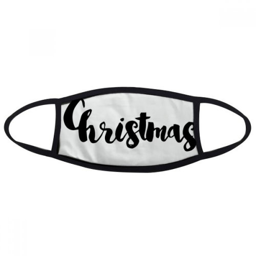 Christmas Stylish Quote Handwrite Mask Mouth Face Anti-dust Anti Cold Warmer