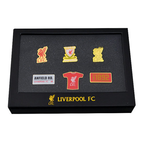 Liverpool 6 Pin Badge Set - One Size - Piece Fc Official Football New -  6 piece badge set liverpool fc official football new