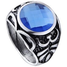Imitation Sapphire Ring Personalized Ring For Men Unique Ring