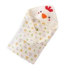 Cute Chick Baby Receiving Blankets Summer Hooded Swaddleme, Yellow