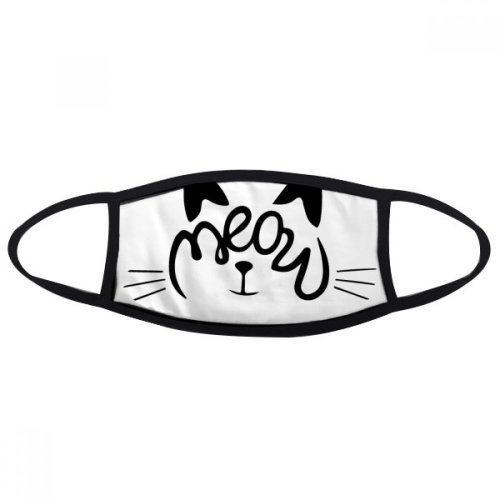 Cat Meow Quote DIY Design Mouth Face Anti-dust Mask Anti Cold Warm Washable Cotton Gift
