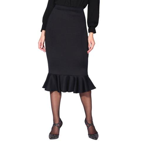 Pencil Fishtail Midi Skirt