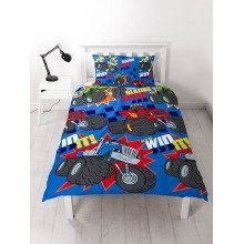 Blaze And The Monster Machines Zoom Single Duvet Cover Set Polyester