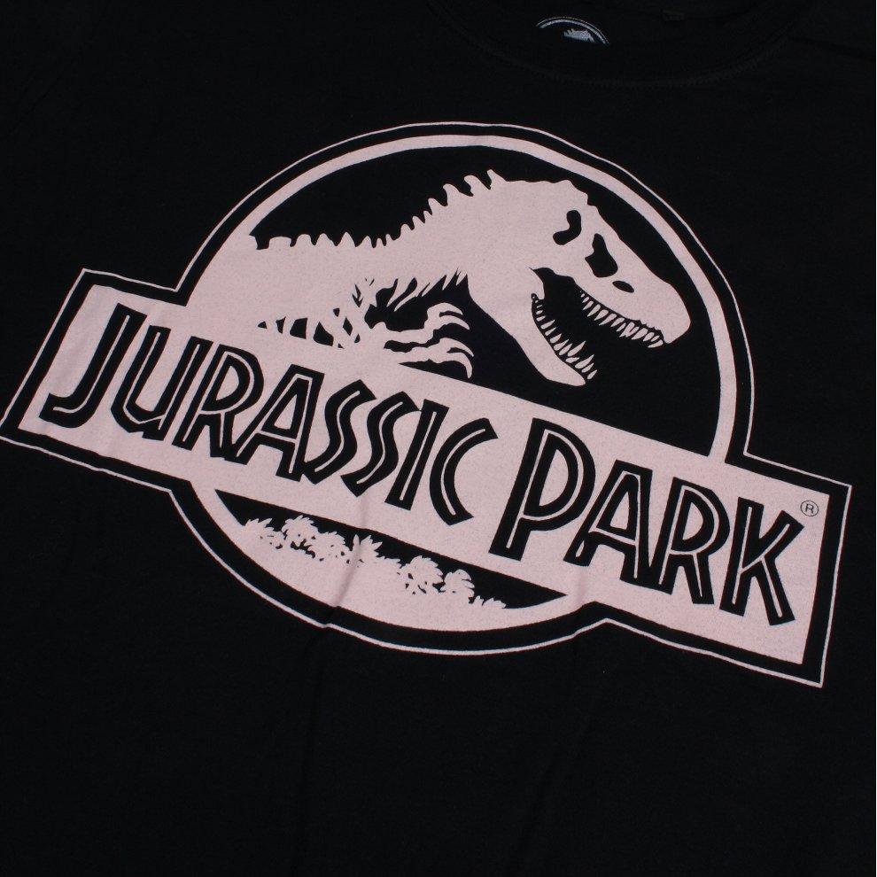 b774f1c3 ... Jurassic Park Logo Ladies T-shirt Black - 3 ...