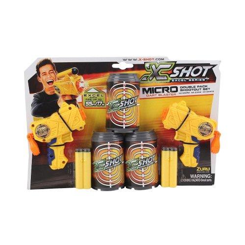 Zuru X-shot Micro Dart Blaster Double Pack Shootout