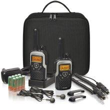 2 x Binatone Action 1100 Walkie Talkie - PMR446 10km Radio Travel Pack with Case