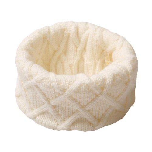 Winter Baby Scarf Knitting Neckerchief White Pullover Warm Scarf for Children
