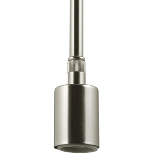 Progress Lighting P5198 09 1 Light Stem Mounted Pendant Used with Markor Or Chloe Shades For Complete Fixture Brushed Nickel