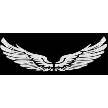 Set of 2 Wings Family Car Stickers Unique Design Car Sticker White