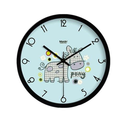 "Maidin Modern Pony Horse Living Room Mute Wall Clock 10""(Black)"