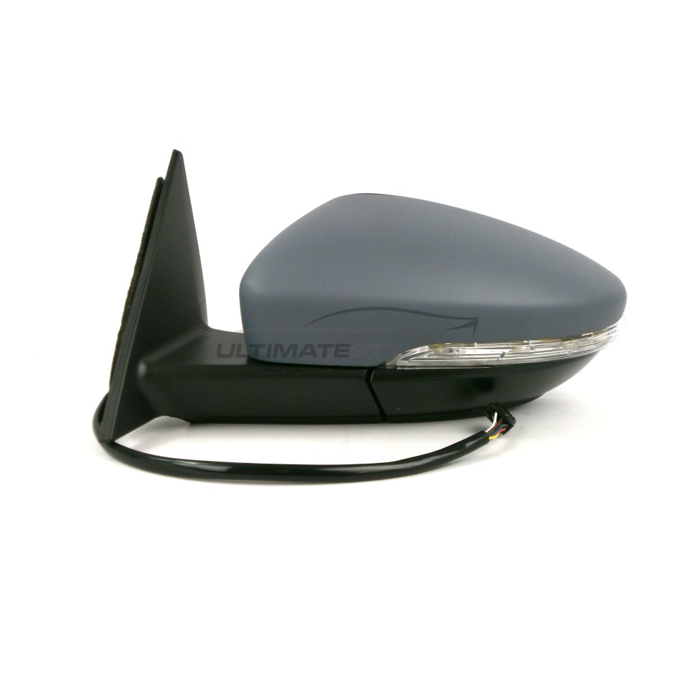 LH Left Hand Side Ultimate Styling Aftermarket Replacement Wing Mirror Cover Cap Colour Of Cover Black For Passenger Side