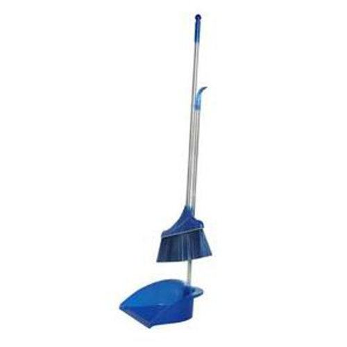 Durable Removable Broom and Dustpan Standing Upright Grips Sweep Set with Long Handle, #C1