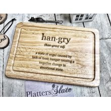 Hangry Wooden Chopping Board And Serving Platter - 30x20cm