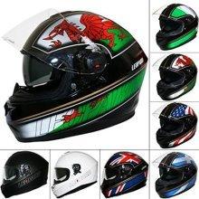 Leopard LEO-828 DVS Double Sun Visor Full Face Motorbike Motorcycle Crash Helmet #6 Wales S (55-56cm)