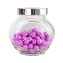 Set Of 100 Bottled Pushpin/Environmentally Friendly Wall Nails, Purple