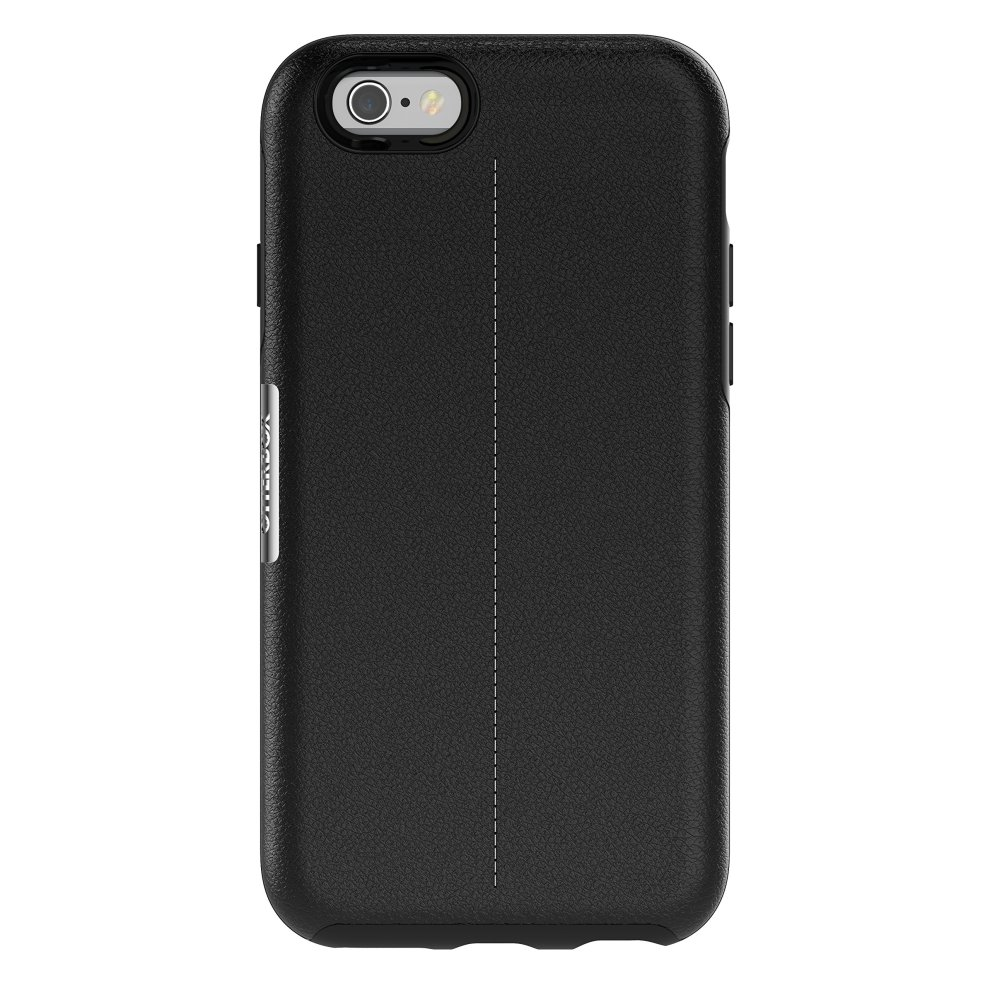 online retailer a834f 8c18a OtterBox Strada Series Bundle Case with Alpha Glass Screen Protector for  Apple iPhone 6/6S - Onyx