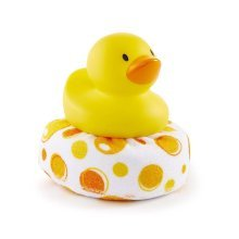Munchkin Duck Duck Clean Sponge Bath Toy, Yellow