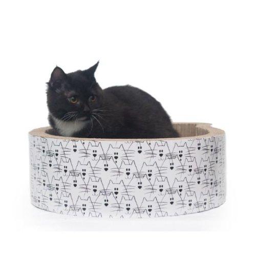 Cat Head Scratcher Bed Cardboard Catnip Unusual