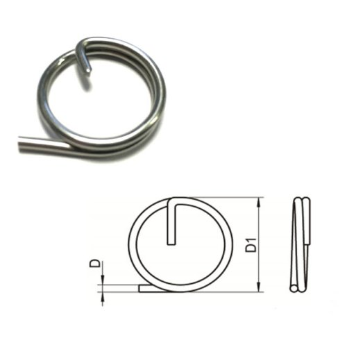 Split Cotter Ring T316 (A4) Marine grade stainless steel 1.25 x 15 mm